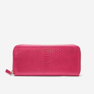 Cole Hann Isabella Continental Zip Wallet Snake